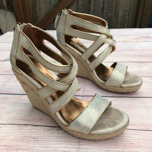 Cynthia Vincent Strappy Wedges